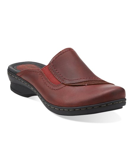 Burgundy Ideo Hay Leather Mule