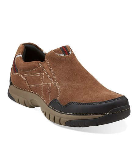 Brown Suede Roebling Twin Slip-On Shoe