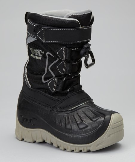 Black & Gray Gordy Snow Boot - Kids