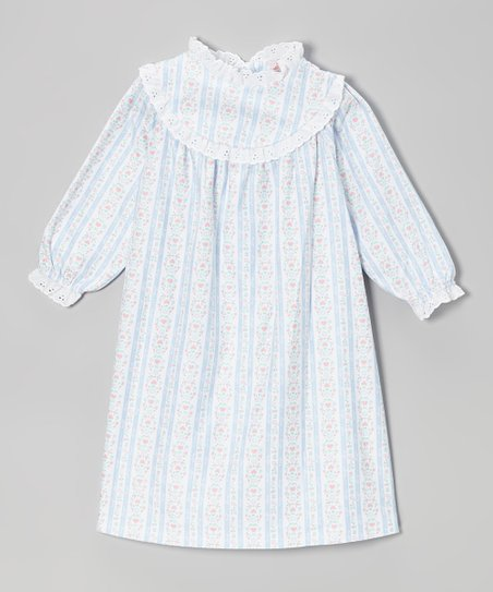 Light Blue Tyrolean Nightgown - Toddler & Girls