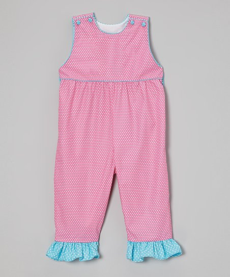 Pink Polka Dot Ruffle Jumpsuit - Infant & Toddler