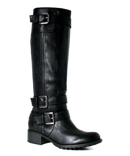 Black Extra-Wide Shaft New York Boot