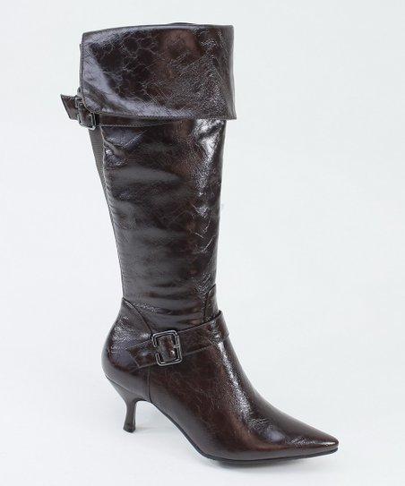 Brown Pirate Heel Boot