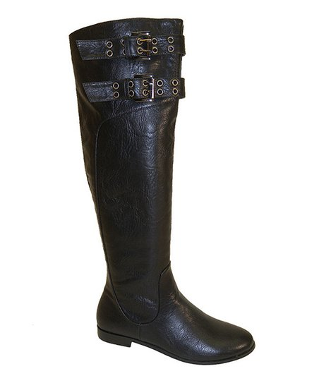 Black Hook & Loop Boot