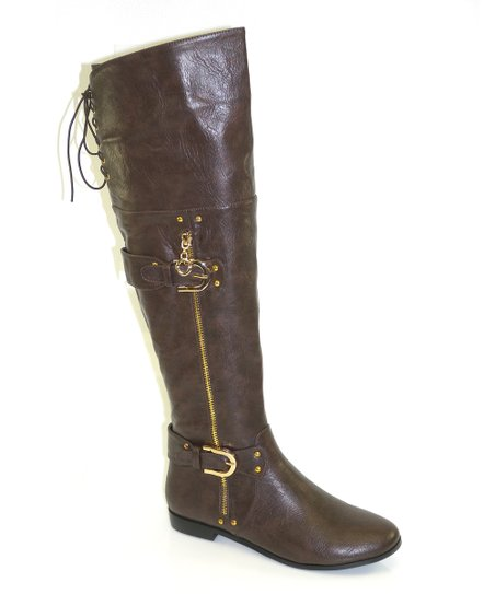 Brown Back Lace Boot
