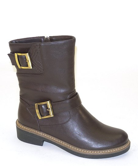 Brown Stitch & Buckle Boot