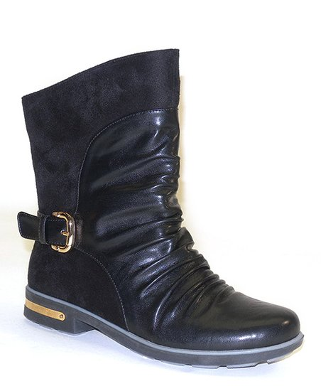 Black Metal Buckle Boot