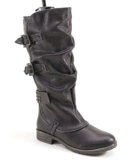Black Ruffle Boot