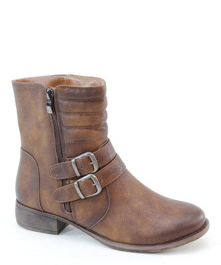 Brown Distressed Ankle Boot