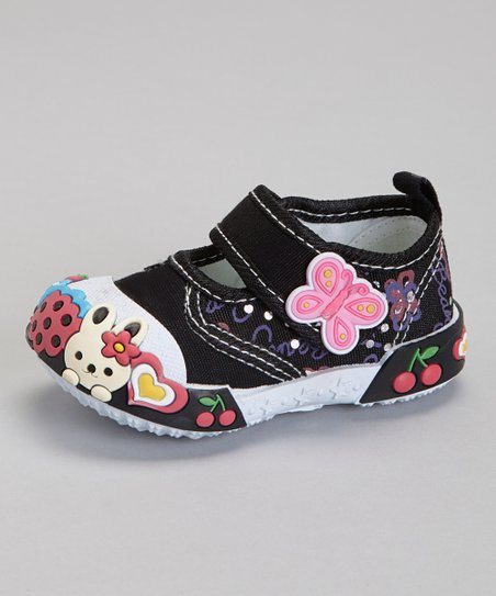 Black & Purple Butterfly Sneaker