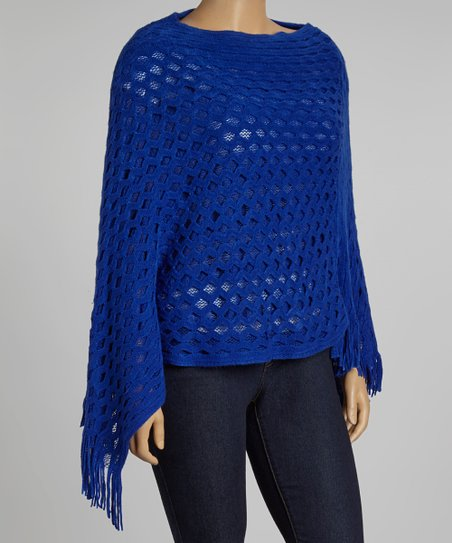 Royal Blue Poncho - Plus