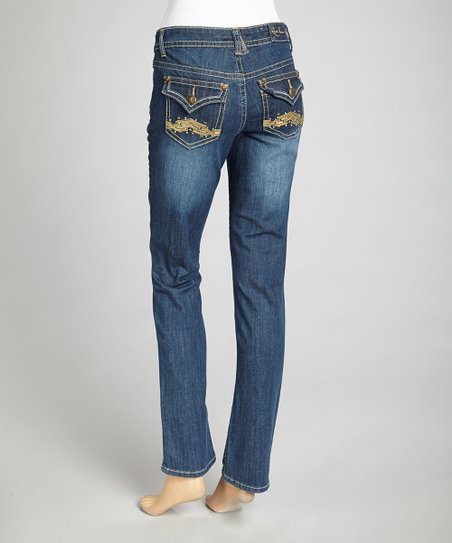 Happiness Blue Straight-Leg Jeans