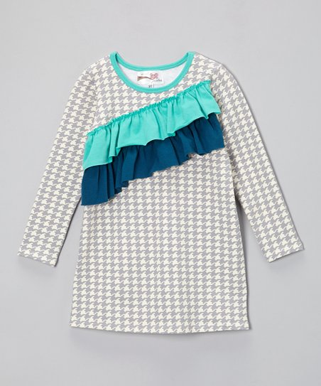 Gray Houndstooth Millie Dress - Infant, Toddler & Girls