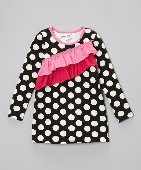 Black Polka Dot Millie Dress - Infant, Toddler & Girls