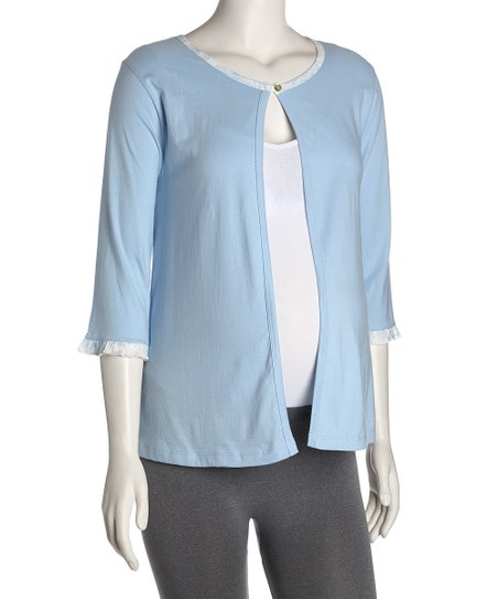Blue Jayne Maternity & Nursing Open Cardigan - Women