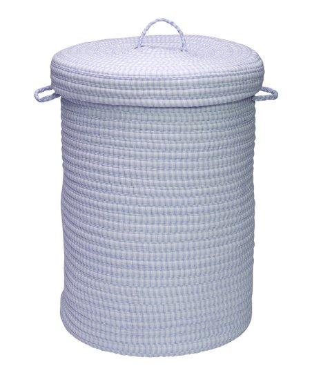 Blue & White Laundry Hamper