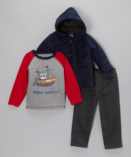 Navy Hooded Jacket Set - Infant