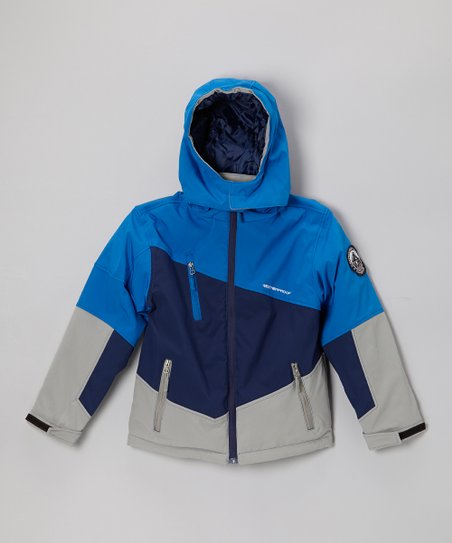 Royal Blue & Gray Insulated Soft Shell Jacket - Boys