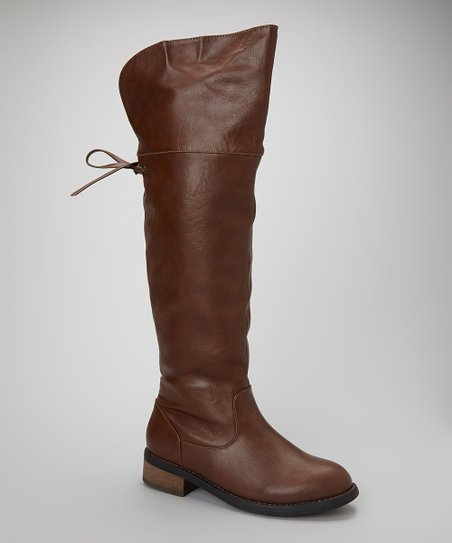 Brown Cali Over-the-Knee Boot
