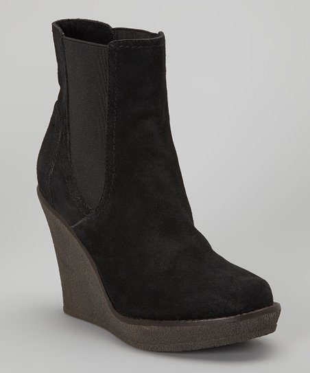 Black Culver Wedge Boot