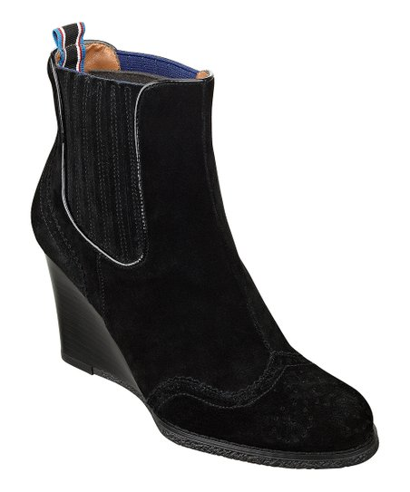 Black Suede Edria Wedge Boot