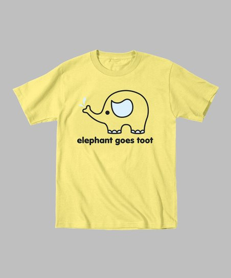 Banana 'Elephant Goes Toot' Tee - Toddler & Kids