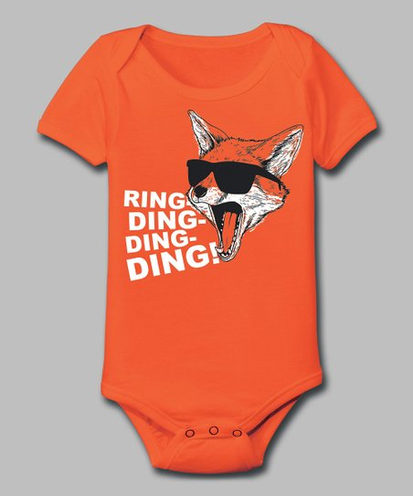 Orange 'Ring-Ding-Ding-Ding' Bodysuit - Infant