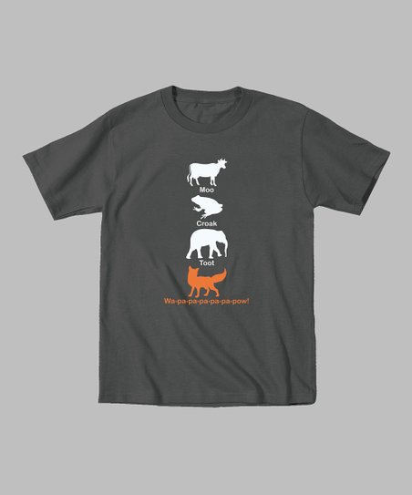 Charcoal Stacked Animal Pals Tee - Toddler & Kids