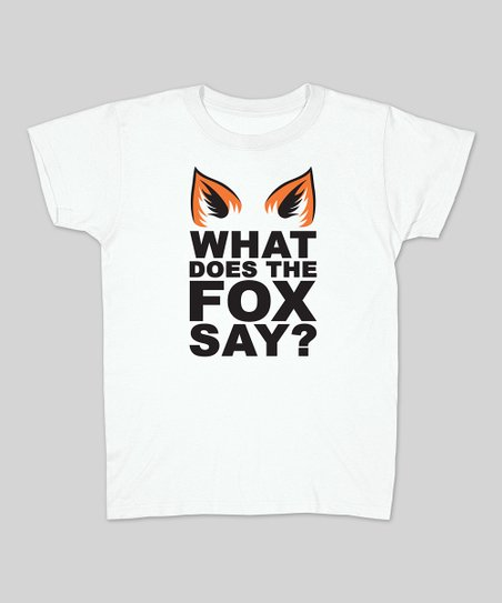 White Fox Ears 'What Does the Fox Say?' Tee - Women