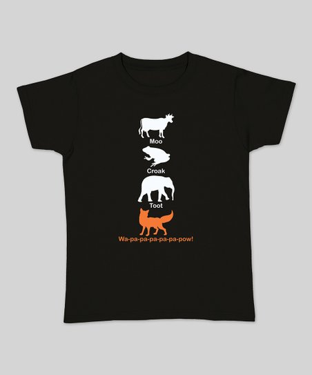Black Stacked Animal Pals Tee - Women