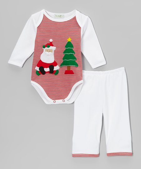 Red & White Santa Bodysuit & Pants - Infant