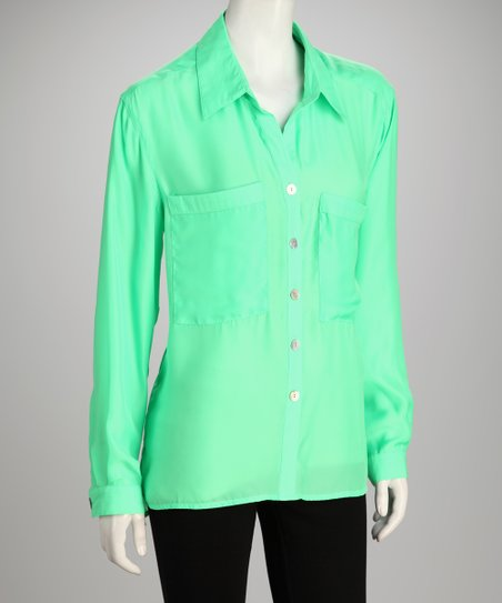 Hanna &amp; Gracie Green Button-Up