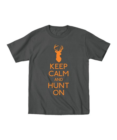Charcoal 'Keep Calm and Hunt On' Tee - Men