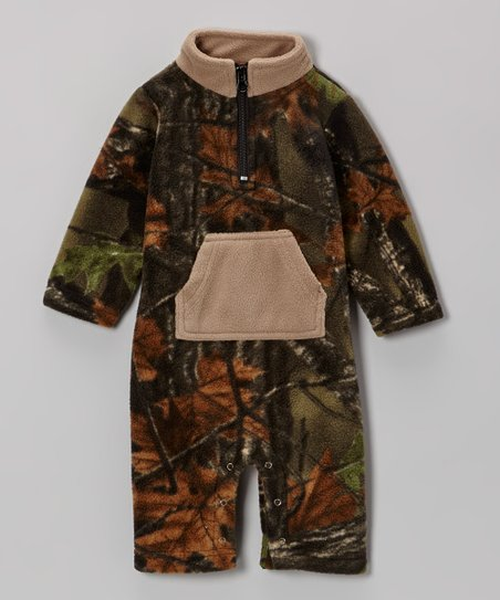 Birch & Camouflage Fleece Playsuit - Infant