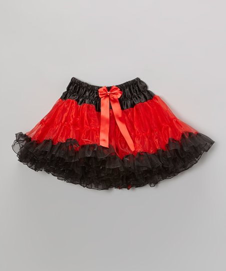 Red & Black Pettiskirt – Infant, Toddler & Girls