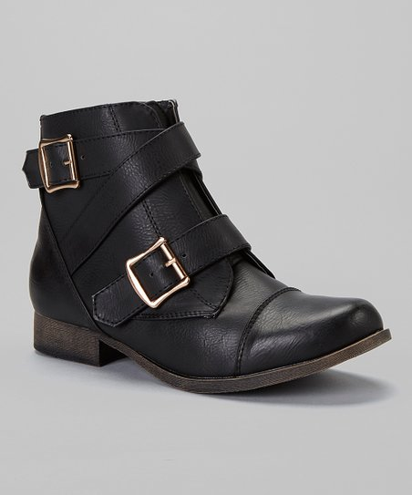 Black Prima Strap Boot - Women