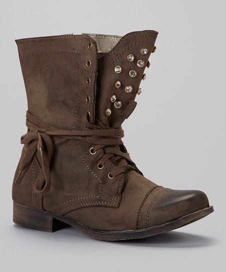 Brown Prima Studded Boot