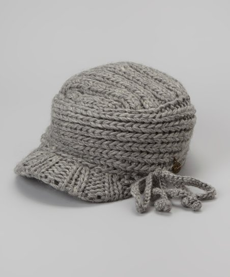 Gray Frenchie Visor Beanie