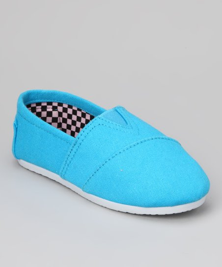 Blue Canvas Slip-On Shoe