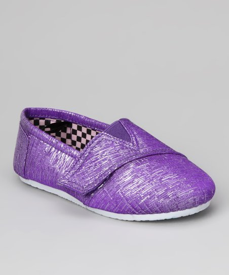 Purple Panle Shimmer Shoe