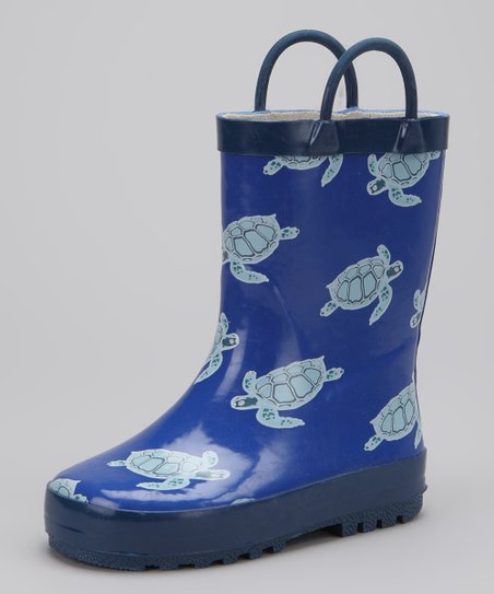 Blue Turtle Rain Boot