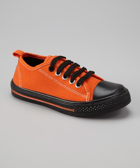 Orange & Black Classic Slip-On Sneaker