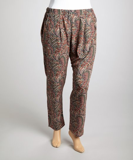 Olive Harem Pants - Plus