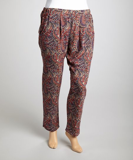 Blue Harem Pants - Plus