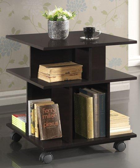Dark Brown Warren Modern Storage Shelf
