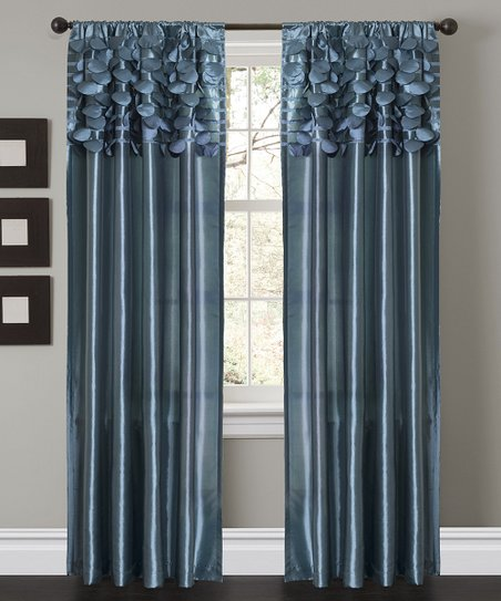 Blue Circle Curtain Panel - Set of Two