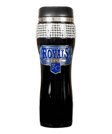 Kansas City Royals Black Bling Travel Tumbler