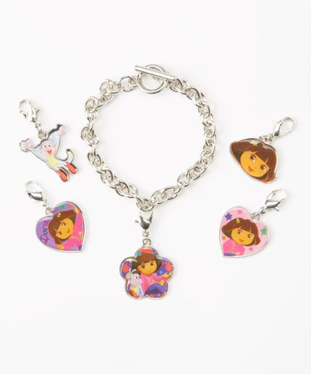 Dora the Explorer Bracelet & Charms Set