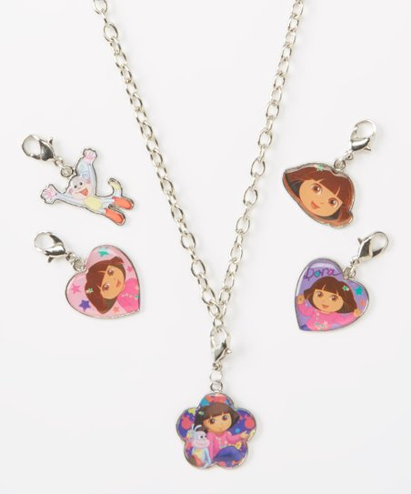 Dora the Explorer Necklace & Charms Set