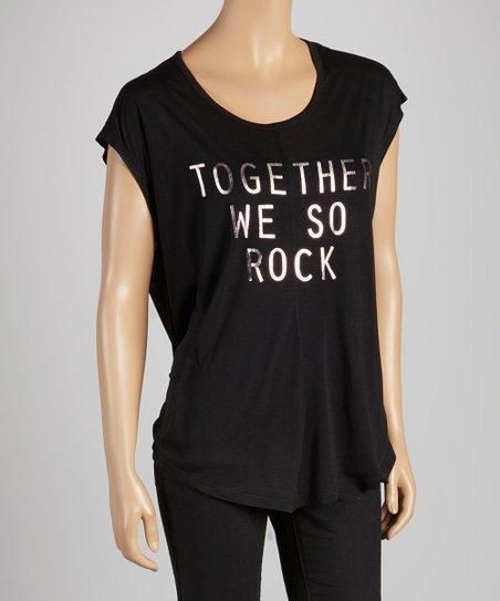 Black 'Together We So Rock' Albany Wool-Blend Tee